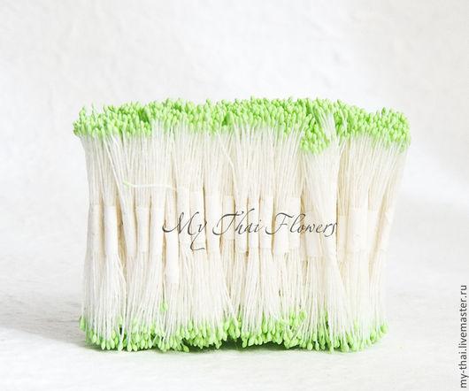 Тычинки. Мелкие светло-зеленые головки. My Thai флористические материалы из Таиланда