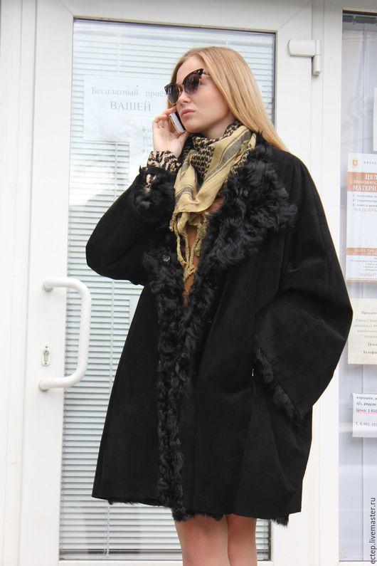 Верхняя одежда ручной работы. Ярмарка Мастеров - ручная работа. Купить Пальто из замши без воротника.. Handmade. Зимнее пальто