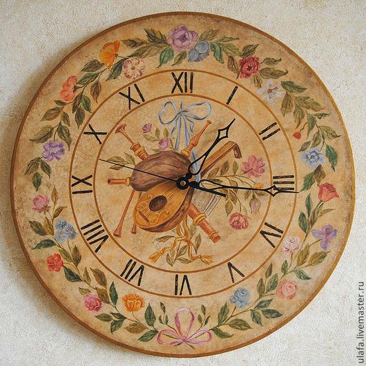 """Часы для дома ручной работы. Ярмарка Мастеров - ручная работа. Купить Часы большие настенные """"Музыка Людовика XV"""". Handmade."""