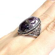 Украшения handmade. Livemaster - original item Large ring made of natural amethyst(a and m). Handmade.