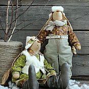 """Куклы и игрушки ручной работы. Ярмарка Мастеров - ручная работа Игрушки текстильные """"Скандинавские зайцы"""". Handmade."""