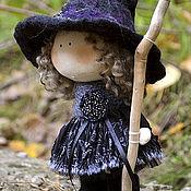 Куклы и игрушки ручной работы. Ярмарка Мастеров - ручная работа ВЕДЬМОЧКА текстильная куколка-малышка. Handmade.