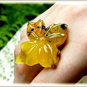 Украшения handmade. Livemaster - original item Ring the lucky amber silver plated. Handmade.