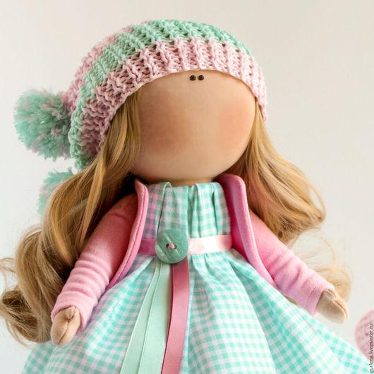 Коллекционные куклы ручной работы. Ярмарка Мастеров - ручная работа. Купить Кукла текстильная. Кукла интерьерная.. Handmade. Мятный