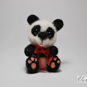 Миниатюрные валяные из шерсти игрушка панда