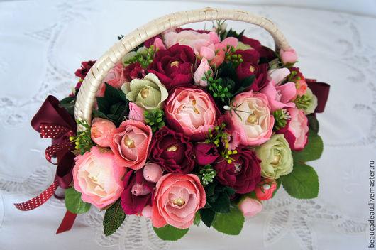 """Букеты ручной работы. Ярмарка Мастеров - ручная работа. Купить Букет из конфет к празднику  """"Розовые розы"""". Handmade. Букет из конфет"""