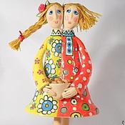 Куклы и пупсы ручной работы. Ярмарка Мастеров - ручная работа Керамика Кукла интерьерная Пасхальная радость. Handmade.