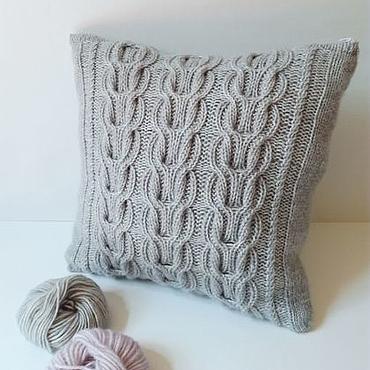 Textiles handmade. Livemaster - original item Knitted cover decorative pillow