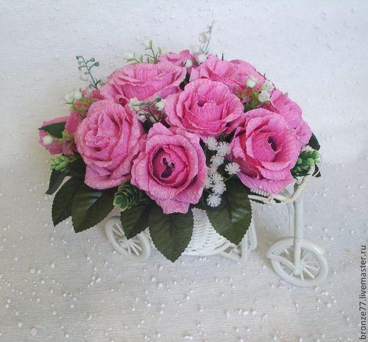 Кашпо ручной работы. Ярмарка Мастеров - ручная работа. Купить Розовые грезы. Handmade. Букет из конфет москва, розовые розы