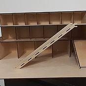 Техника, роботы, транспорт ручной работы. Ярмарка Мастеров - ручная работа Парковка для машинок из дерева. Handmade.