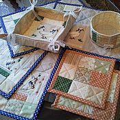Для дома и интерьера ручной работы. Ярмарка Мастеров - ручная работа Набор лоскутных изделий для сервировки стола ГУСИ. Handmade.