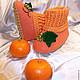 Детская обувь ручной работы. Ярмарка Мастеров - ручная работа. Купить Детские валяные тапочки Виноградно-апельсиновый микс. Handmade.