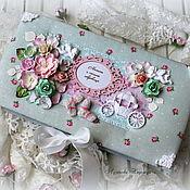Упаковочная коробка ручной работы. Ярмарка Мастеров - ручная работа Мамины сокровища для девочки. Handmade.