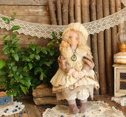 Коллекционные куклы ручной работы. Ярмарка Мастеров - ручная работа. Купить Ниночка авторская текстильная коллекционная интерьерная кукла. Handmade.