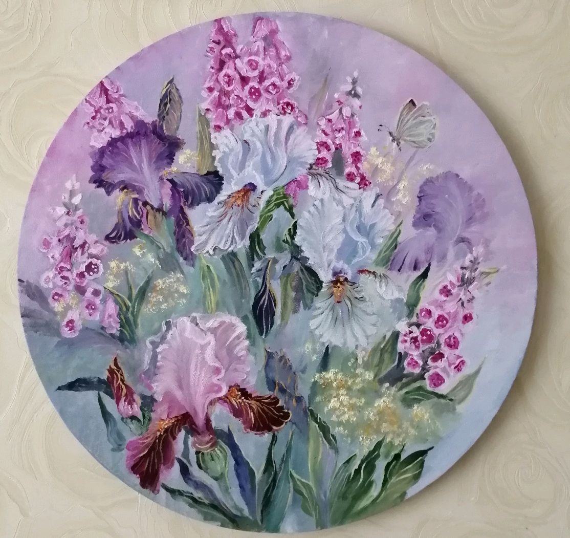 ' Irises in the style of Provence ' two paintings, Pictures, Nizhny Novgorod,  Фото №1