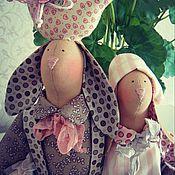 Куклы и игрушки ручной работы. Ярмарка Мастеров - ручная работа Тильда. Зайцы-неразлучники. Тильда-зайцы.. Handmade.