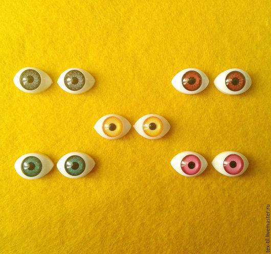 Куклы и игрушки ручной работы. Ярмарка Мастеров - ручная работа. Купить Глазки для кукол 16мм. Handmade. Серый, глаза для кукол