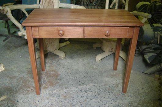 Мебель ручной работы. Ярмарка Мастеров - ручная работа. Купить Деревянный столик (002). Handmade. Коралловый, столик для ноутбука, дерево