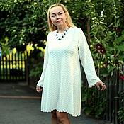 """Одежда ручной работы. Ярмарка Мастеров - ручная работа Вязаное кружевное платье """"Белоснежка"""" белое. Handmade."""