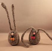 Куклы и игрушки ручной работы. Ярмарка Мастеров - ручная работа Зайцы-длинные уши. Handmade.