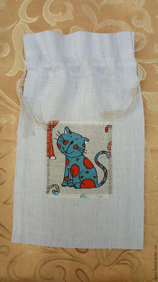 Подарочная упаковка ручной работы. Ярмарка Мастеров - ручная работа. Купить Мешок льняной. Handmade. 100% лен, 100% лён
