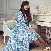 """Платья ручной работы. Ярмарка Мастеров - ручная работа """"Майолика"""" длиное платье в пол. По мотивам Dolce&Gabbana. Handmade."""