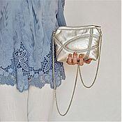 Сумки и аксессуары handmade. Livemaster - original item Silver clutch bag, cross body, small bag(149). Handmade.