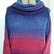 Одежда ручной работы. Ярмарка Мастеров - ручная работа Мохеровый свитер « Динамика красоты». Handmade.