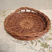 Для дома и интерьера handmade. Livemaster - original item Round willow tray. Handmade.