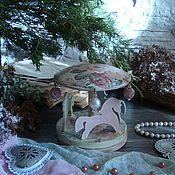 """Куклы и игрушки ручной работы. Ярмарка Мастеров - ручная работа Карусель-каруселька """"В розочках"""". Handmade."""