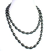 Работы для детей, handmade. Livemaster - original item Long stone beads natural hematite. Handmade.