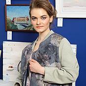 """Одежда ручной работы. Ярмарка Мастеров - ручная работа Жакет-бомбер женский из войлока """"Модный стиль..жакет валяный. Handmade."""