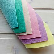 Материалы для творчества handmade. Livemaster - original item Set of soft felt Pastels 6 colors 20h30. Art.1380. Handmade.