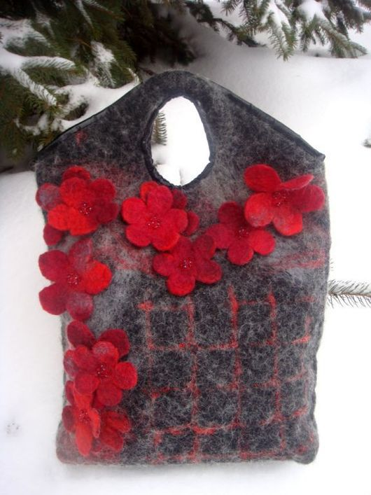 Handbags handmade. Livemaster - handmade. Buy Bag 'Adonis'.Black, bag felted, beads