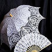 Зонты ручной работы. Ярмарка Мастеров - ручная работа Комплект зонт+веер. Handmade.