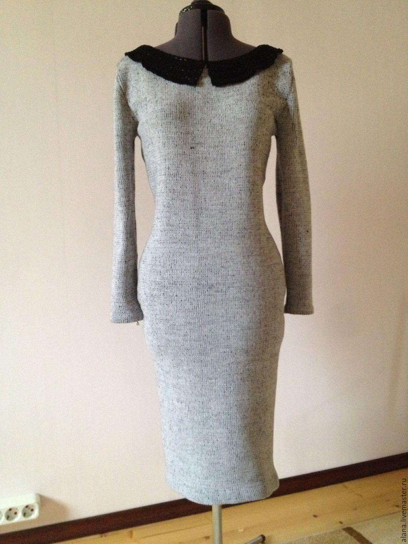 Платье вязаное с кружевным воротничком, Платья, Москва, Фото №1