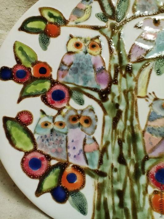 """Тарелки ручной работы. Ярмарка Мастеров - ручная работа. Купить тарелка """" Дерево счастья"""". Handmade. Розовый, новоселье, тарелка"""