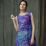 Одежда ручной работы. Ярмарка Мастеров - ручная работа На закате (платье, нуно-войлок). Handmade.