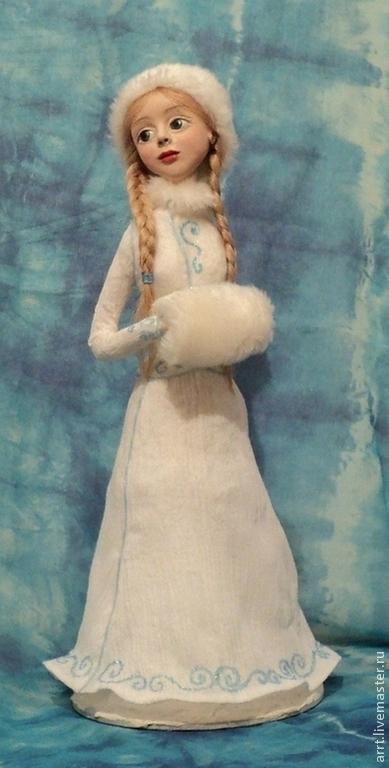 Сказочные персонажи ручной работы. Ярмарка Мастеров - ручная работа. Купить Снегурочка Авторская кукла. Handmade. Голубой, Новый Год