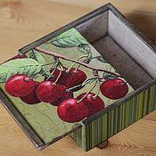 """Для дома и интерьера ручной работы. Ярмарка Мастеров - ручная работа Короб - пенал """"Вишневый"""" (ящик для хранения, чайный короб). Handmade."""