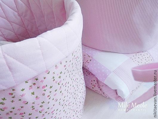 Детская ручной работы. Ярмарка Мастеров - ручная работа. Купить Текстильная корзина. Handmade. Розовый, корзинка, детская корзина