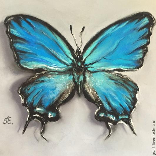 Бабочка. Пастель