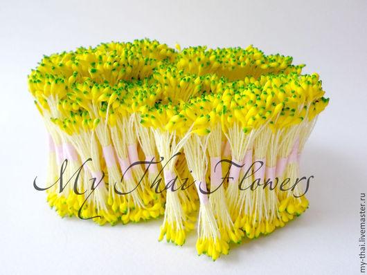 Тычинки. Каплевидные желто-зеленые головки. my thai