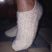 Аксессуары handmade. Livemaster - original item Women`s knitted slippers `Winter motive`. Handmade.