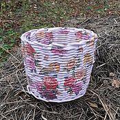 Для дома и интерьера ручной работы. Ярмарка Мастеров - ручная работа Розовая корзиночка. Handmade.