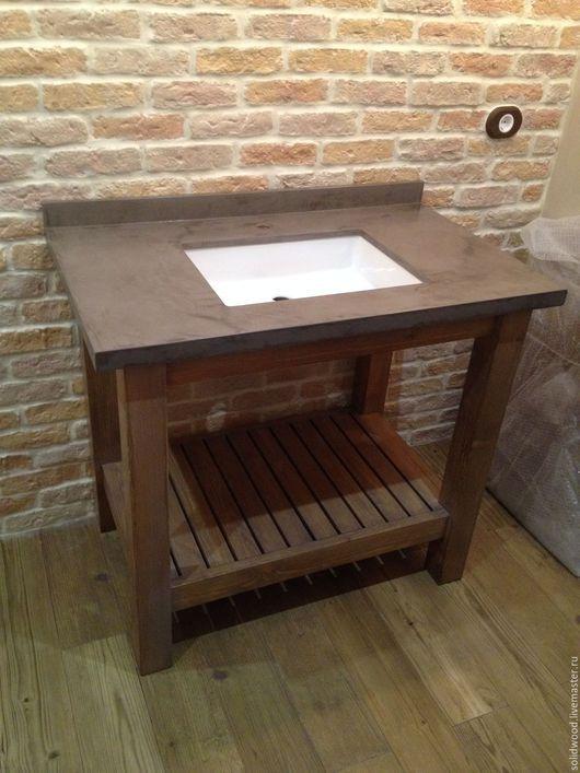 Мебель ручной работы. Ярмарка Мастеров - ручная работа. Купить Тумба в ванную комнату. Handmade. Комбинированный, мебель для ванной, масло