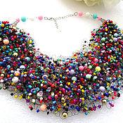 Украшения handmade. Livemaster - original item Beads necklace air Flash -2. Handmade.