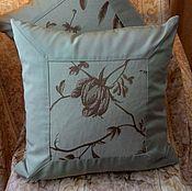 Для дома и интерьера ручной работы. Ярмарка Мастеров - ручная работа Декоративные подушки Зеленая. Handmade.