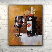 """Картины и панно ручной работы. Ярмарка Мастеров - ручная работа Картина масло холст """"Вино"""". Handmade."""