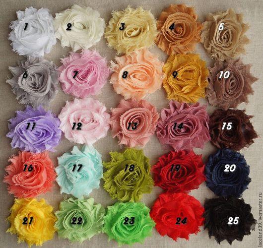 Куклы и игрушки ручной работы. Ярмарка Мастеров - ручная работа. Купить Шифоновые розочки на сетчатой основе (крупные). Handmade. роза